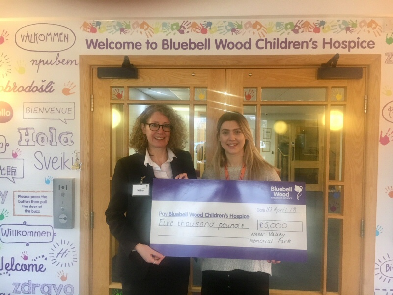 ICCM Donation for Bluebell Wood Childrens Hospice